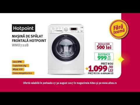 Reclamă ALTEX - Mașină de spălat HOTPOINT - august 2017