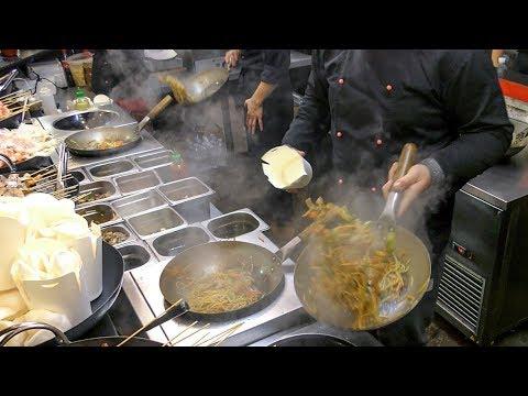Asian Wok Cooking Skills in Kiev. Ukraine Street Food