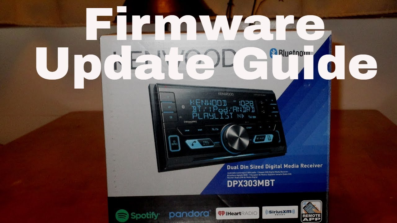 Kenwood DPX303MBT Firmware Update Guide - HF Error 68 - How