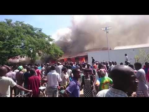 Mangochi hospital on fire ##