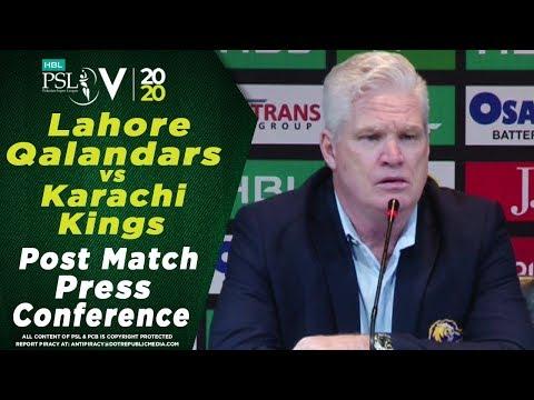 Dean Jones Post Match Press Conference | Lahore Qalandars vs Karachi Kings | HBL PSL 2020