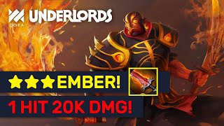 ★★★ EMBER 1 HIT 20K DMG! Epic LORD Rank Assassin Builds! | Dota Underlords