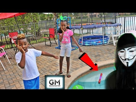 Game Master Caught On Camera He Left A Surprise In Our Swimming Pool!