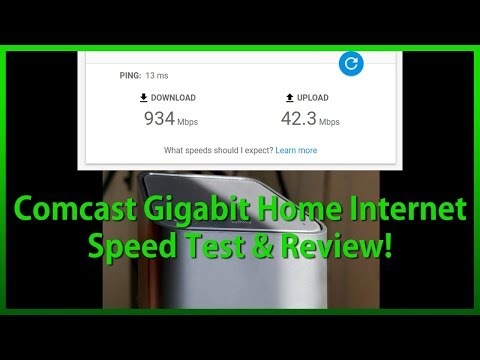 Comcast/Xfinity Gigabit Home Internet Speed Test & Review!
