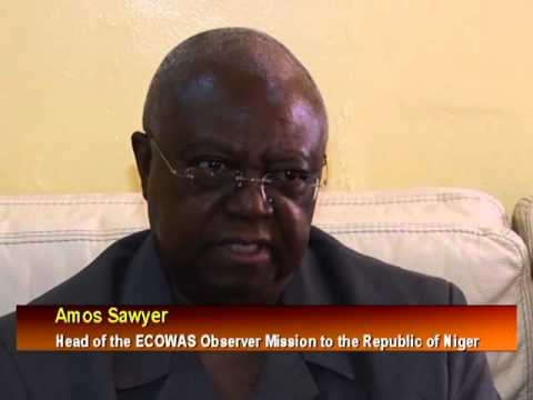 Head Of ECOWAS Observer Mission Arrives Niger.