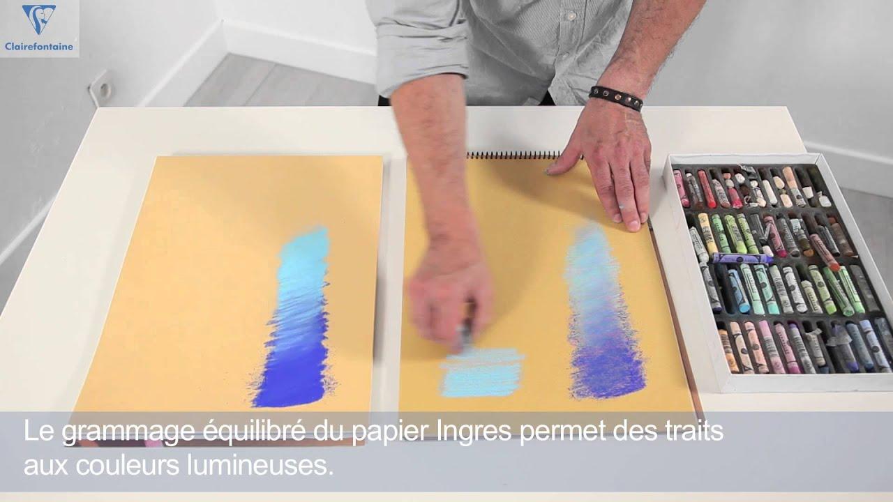 Beaux Arts Pastelmat Ou Ingres Pastel Youtube
