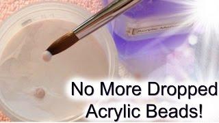 Prevent Acrylic Bead From Falling Off Acrylic Brush: Liquid to Powder Ratio