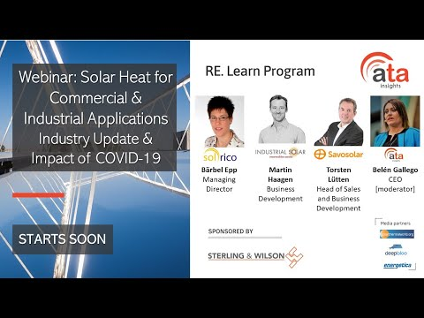 Webinar: Solar Heat for Commercial and Industrial Applications: Industry Update & Impact of COVID-19