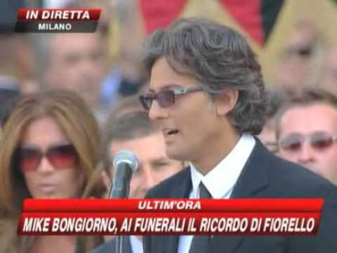 Fiorello al funerale di Mike Bongiorno