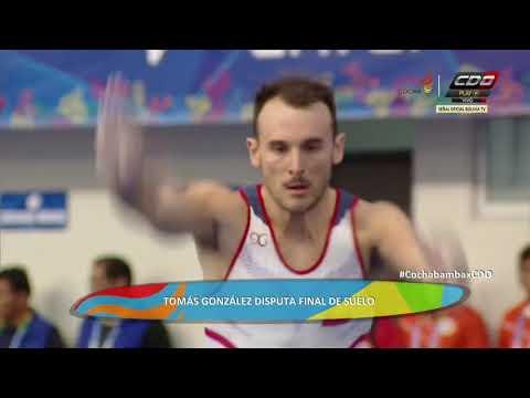 Tomas González logró oro en final de suelo en Juegos Suramericanos