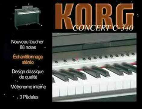 piano korg c340 la boite noire youtube. Black Bedroom Furniture Sets. Home Design Ideas