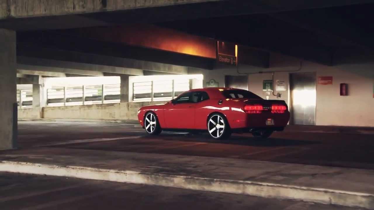 Dodge Challenger Srt 8 On 22 Vossen Vvs Cv3 Concave Wheels Rims