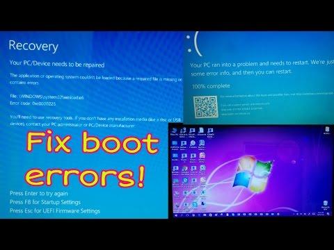 Repair Windows Boot Errors!