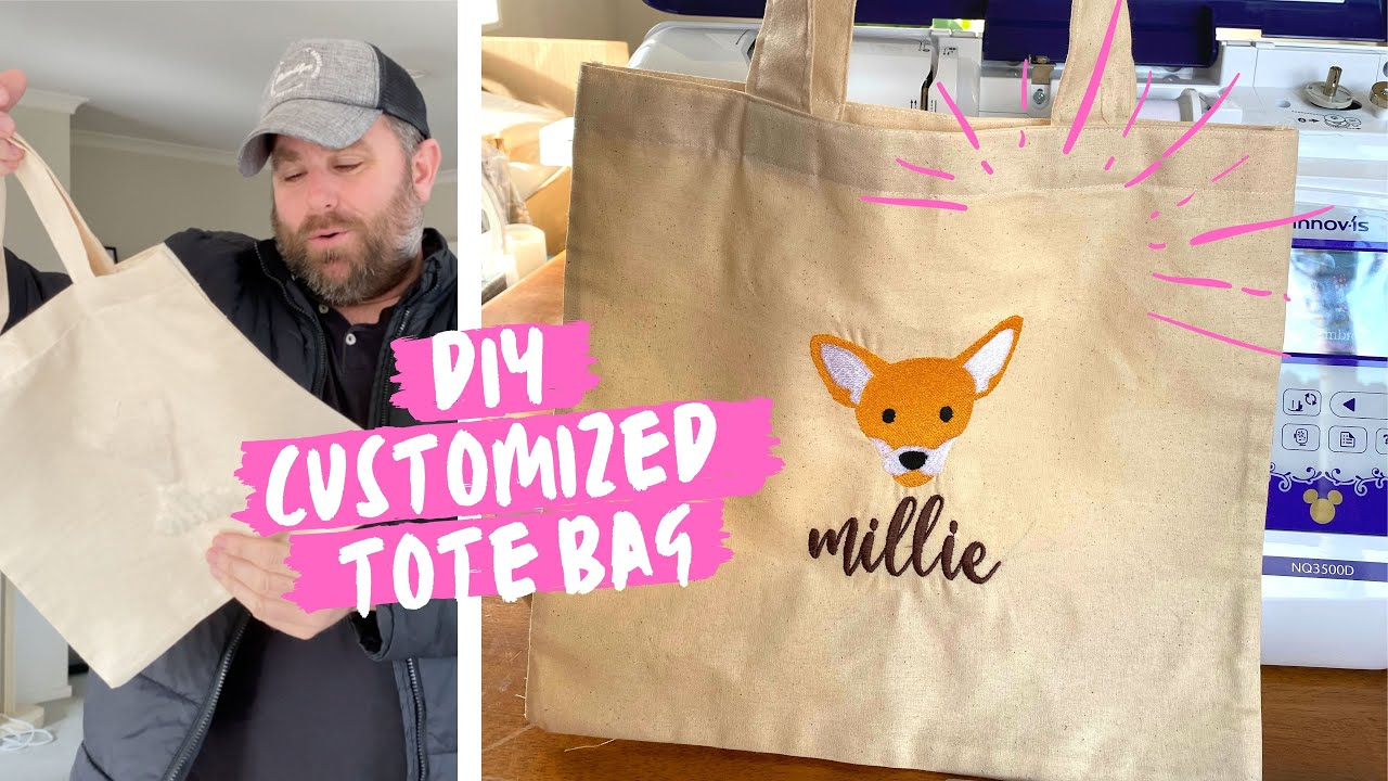 DIY Personalized Tote Bag for Millie + Personalized Hoodie!
