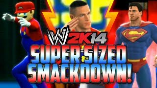 WWE 2K14: Superman vs Super Mario vs Super Cena