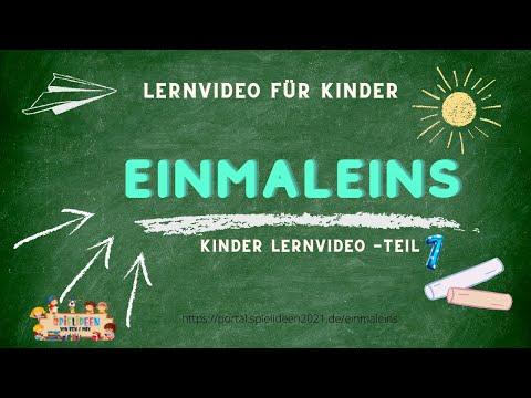 EINMALEINS - Das kleine Einmaleins I Spielideen von Ben & Max - www.spielideen2021.de/GO
