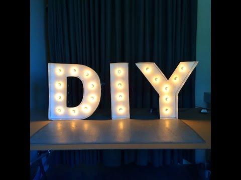 DIY Letter Lights
