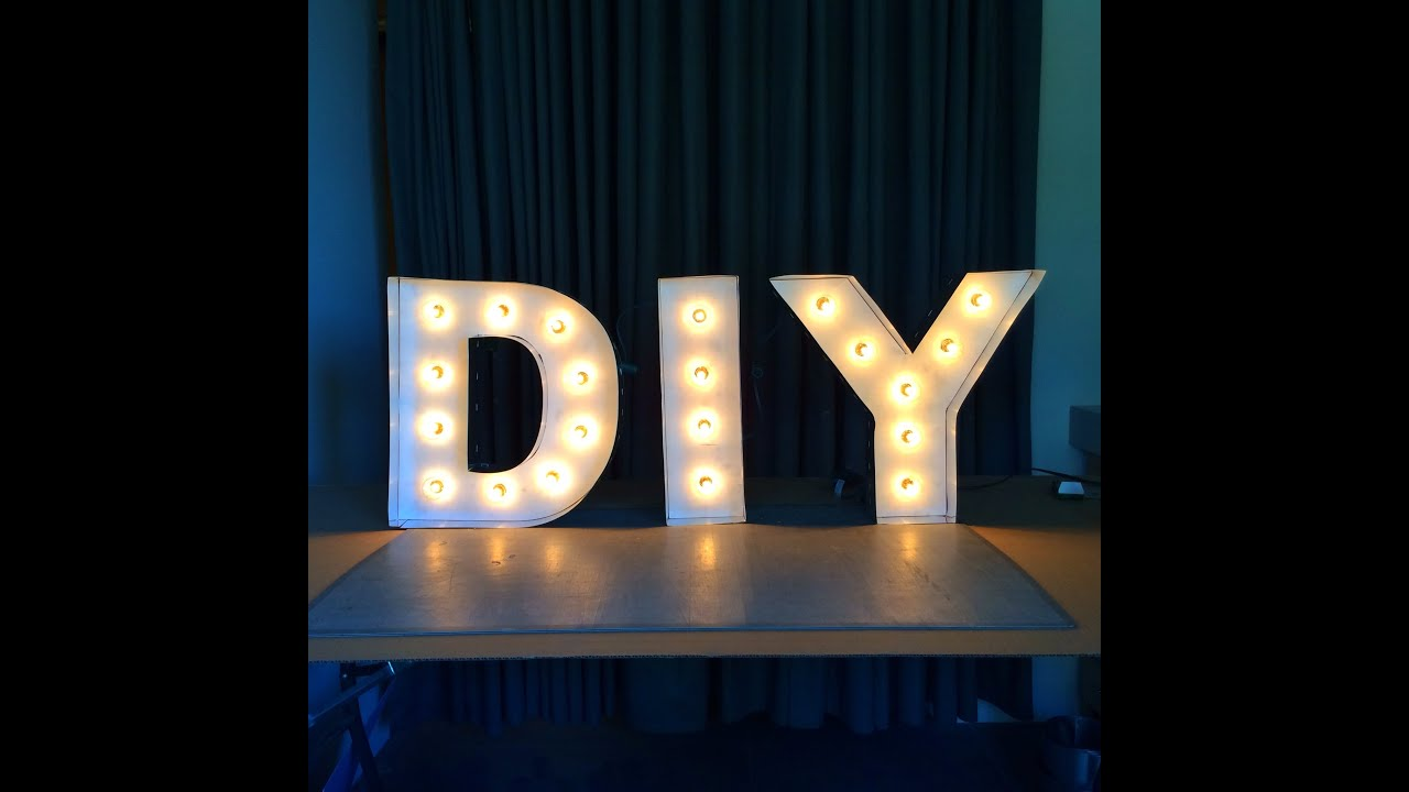 Diy letter lights youtube for Light letters for sale