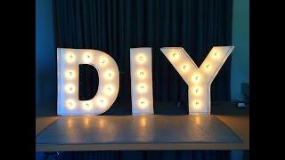 DIY-Buchstaben Leuchten