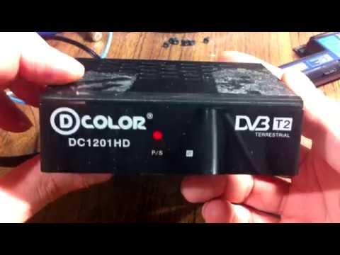 НЕ включается мигает индикатор TV-тюнер D-COLOR DC1201HD