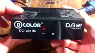 тВ тюнер D-COLOR DC1201HD обзор