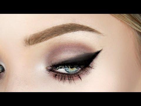 smoky cat eye makeup tutorial  super easy  stephanie