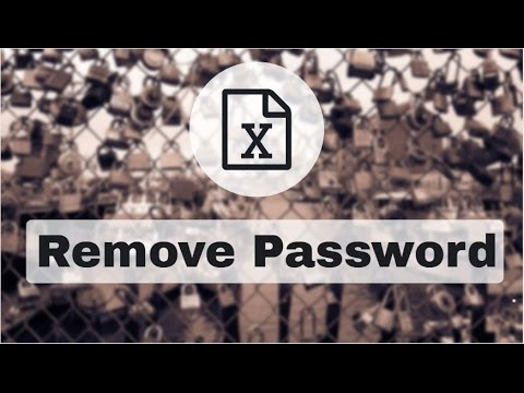 Unprotect Excel   Remove Password From Excel File   Crack Excel Password
