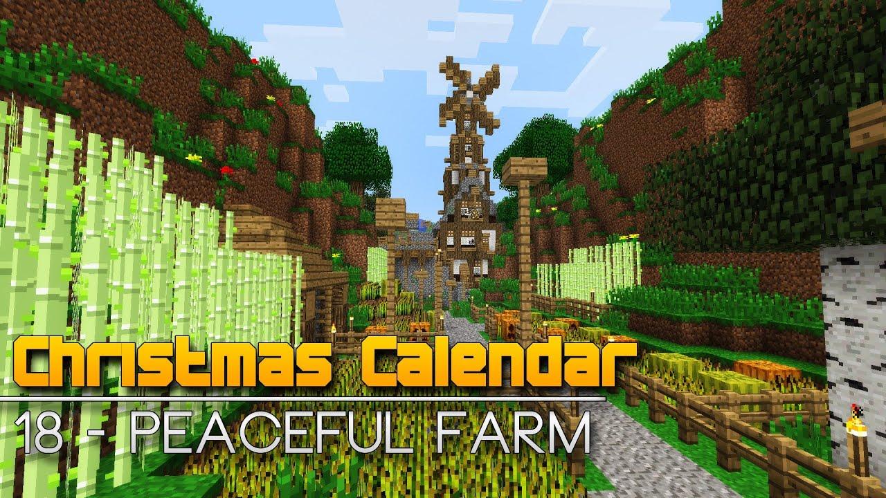 Christmas Calendar Minecraft Download : Christmas calendar peaceful farm minecraft parkour