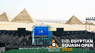 CIB Egyptian Open 2020 - Court 2 Livestream - Rd 1 Afternoon Session
