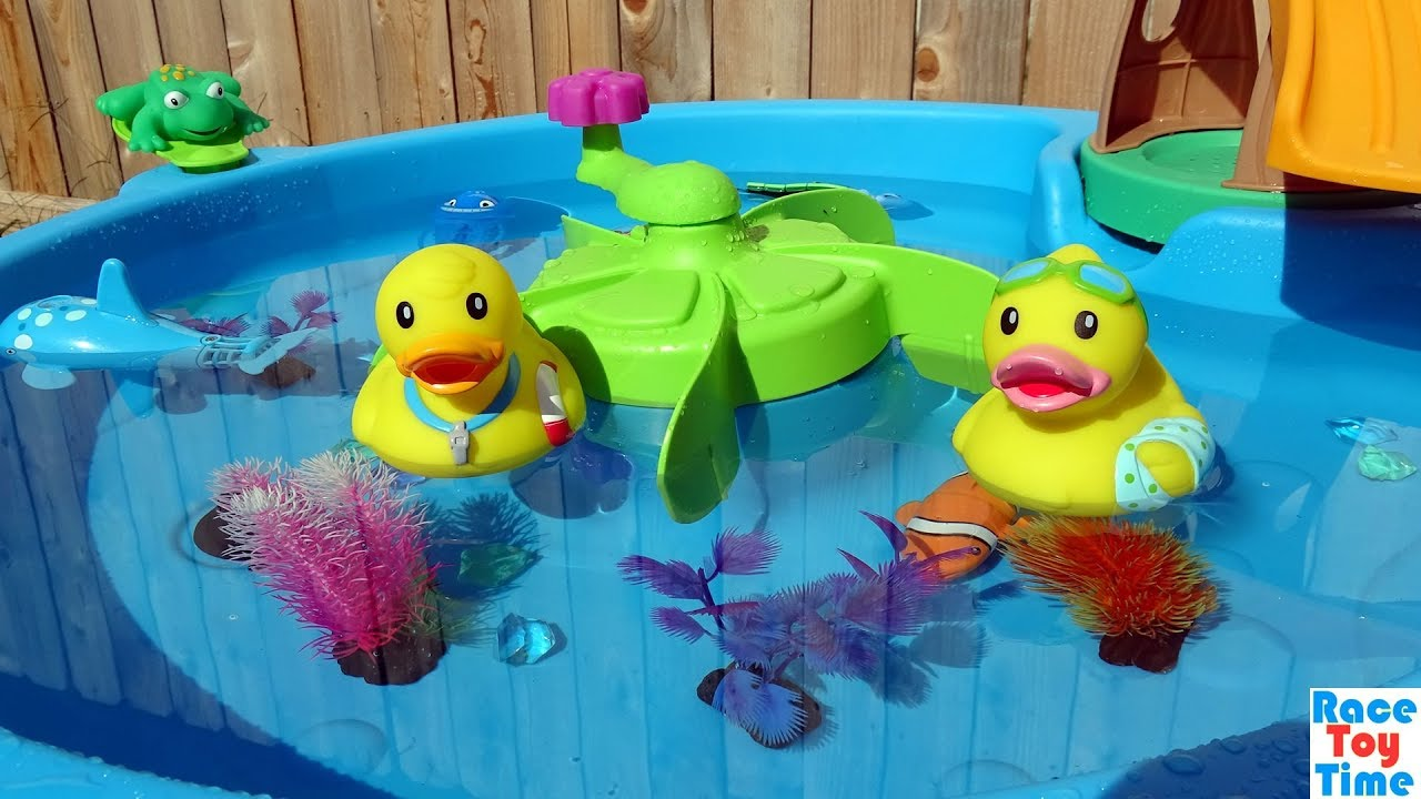 Duck Pond Playset and Sea Animals Toys For Kids - YouTube