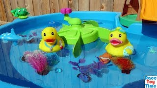Duck Pond Playset and Sea Animals Toys For Kids