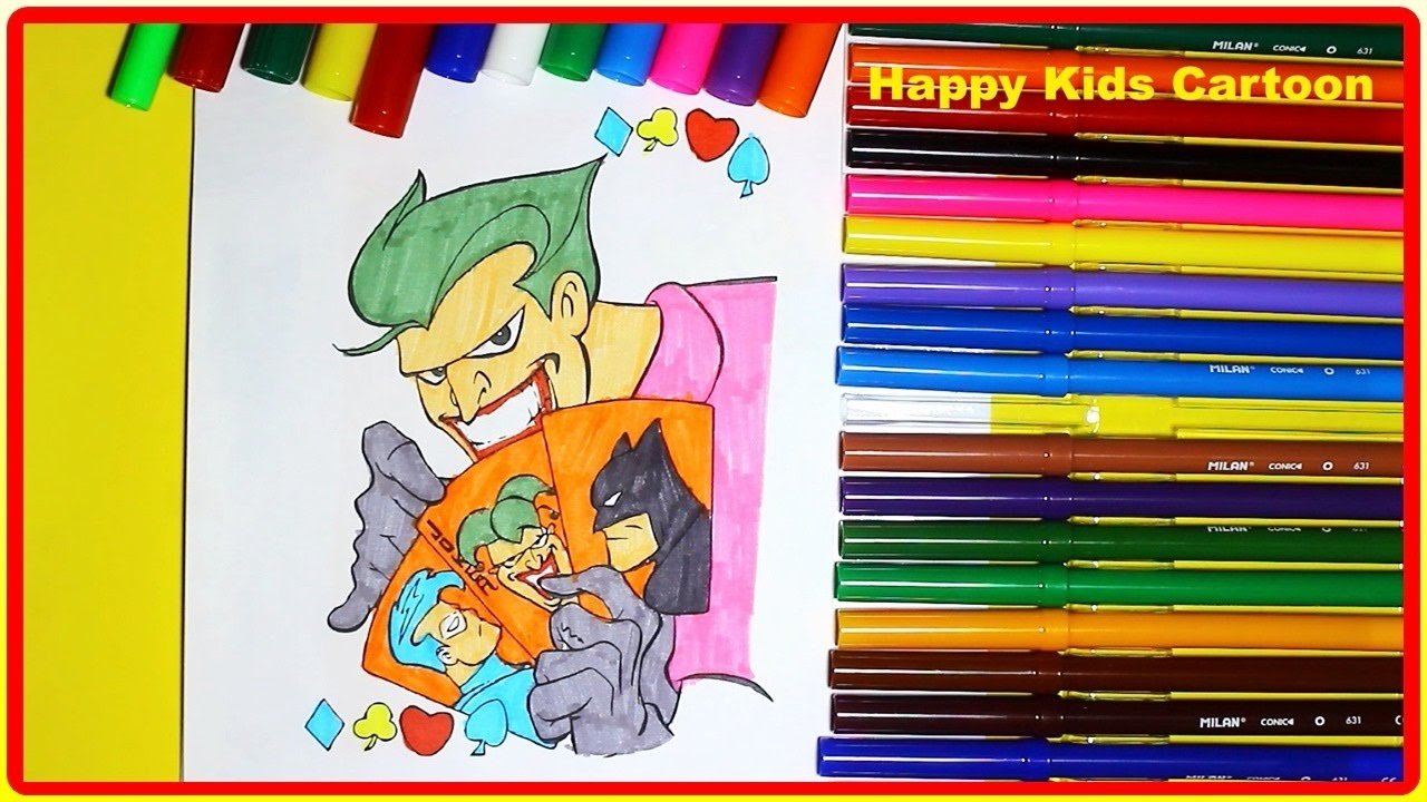 how to color joker coloring pages coloring book learn colors