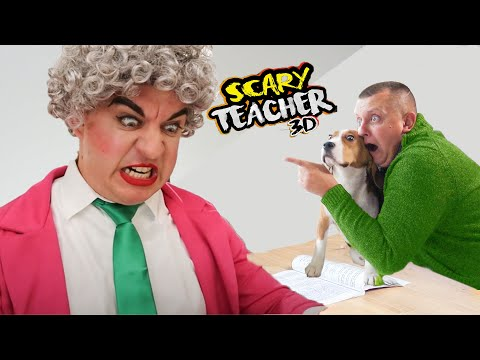 СТРАШНАЯ УЧИЛКА ПРИСЛЕДУЕТ ШЕРЛОКА В РЕАЛЬНОЙ ЖИЗНИ (In Real Life) Scary Teacher 3D