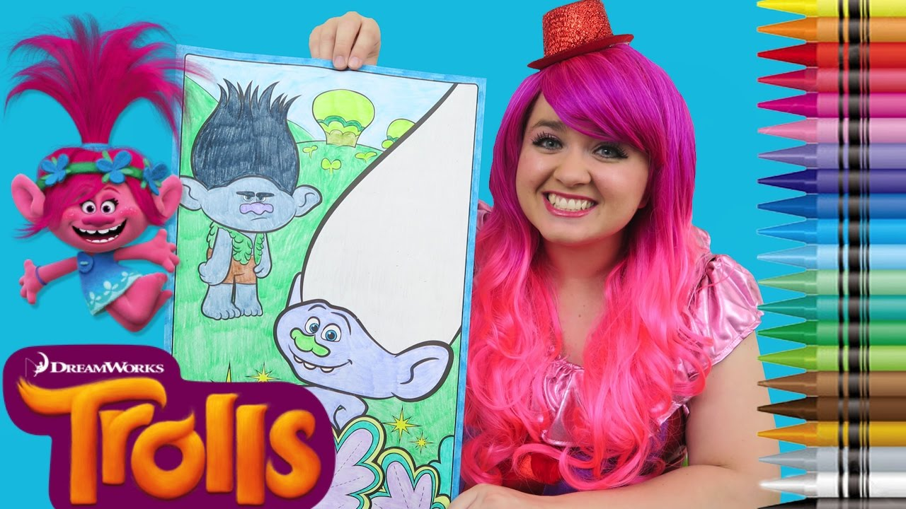 Coloring Trolls Branch & Guy Diamond GIANT Coloring Book Page ...