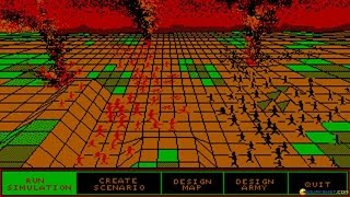 UMS - Universal Military Simulator gameplay (PC Game, 1987)