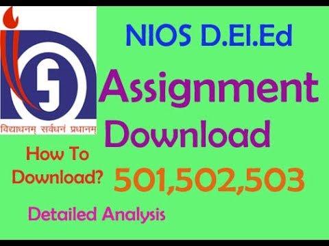 nios assignment questions