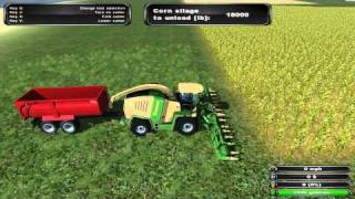 Farming Simulator 2011 Episode 6 Harvesting & Chopping Corn