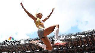 Malaika Mihambo NAILS final long jump to take gold from Brittney Reese   Tokyo Olympics   NBC Sports