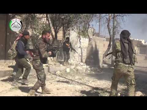 حرب شوارع داخل مدينة الباب بين الجيش الحر وتنظيم داعش ومشاهد من سكن الضباط والشرعية والأوقاف