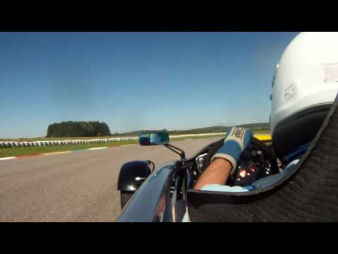 Chambley's last ride of the day in the Ariel Atom