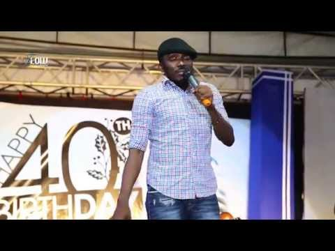 Video: Comedian bovi thrills the crowd at warri billionaire ayiri emami 40th birthday