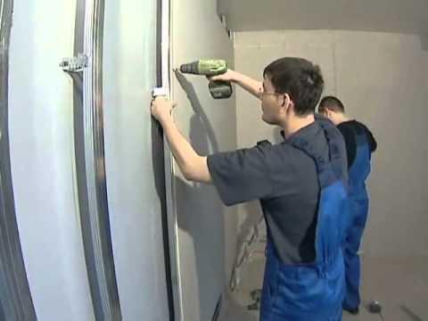 видео: Как выравнять стены с помощью гипсокартона