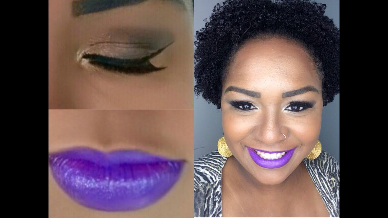 Extremamente Pele Negra : Maquiagem simples marcante - Batom Roxo. - YouTube GA38