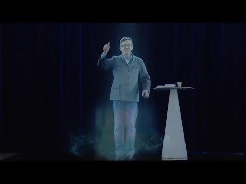 JEAN LUC MÉLENCHON - HOLOGRAMME APPARITION.