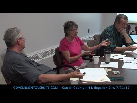 Carroll County NH Delegation Executive Committee 7/31/15
