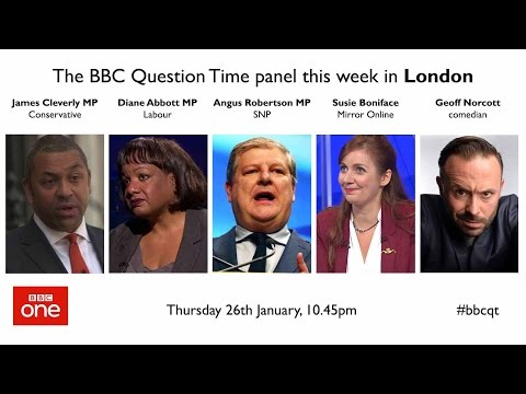 Question Time: Trump's wall, Article 50, NHS charges and nationalised rail