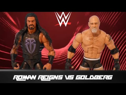 Roman Reigns vs. Goldberg: Action Figure Showdown