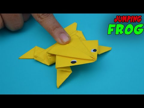 Funny Paper frog - How to make a paper frog🐸-paper origami