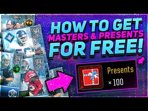 HOW TO GET FREE MASTERS & PRESENTS!! ULTIMATE FREEZE GUIDE! - Madden Overdrive