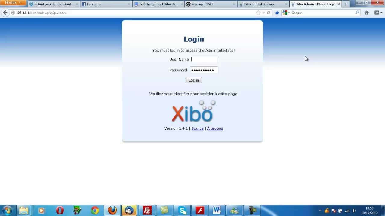 xibo serveur